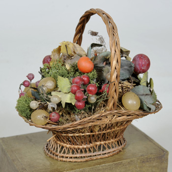 Victorian Basket of Flowers and Fruit Elaine Phillips