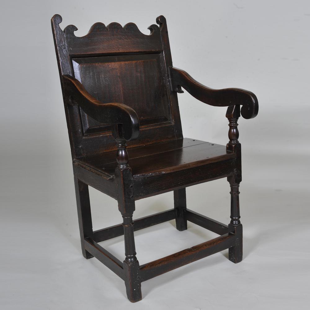 17th century Oak Wainscot Chair