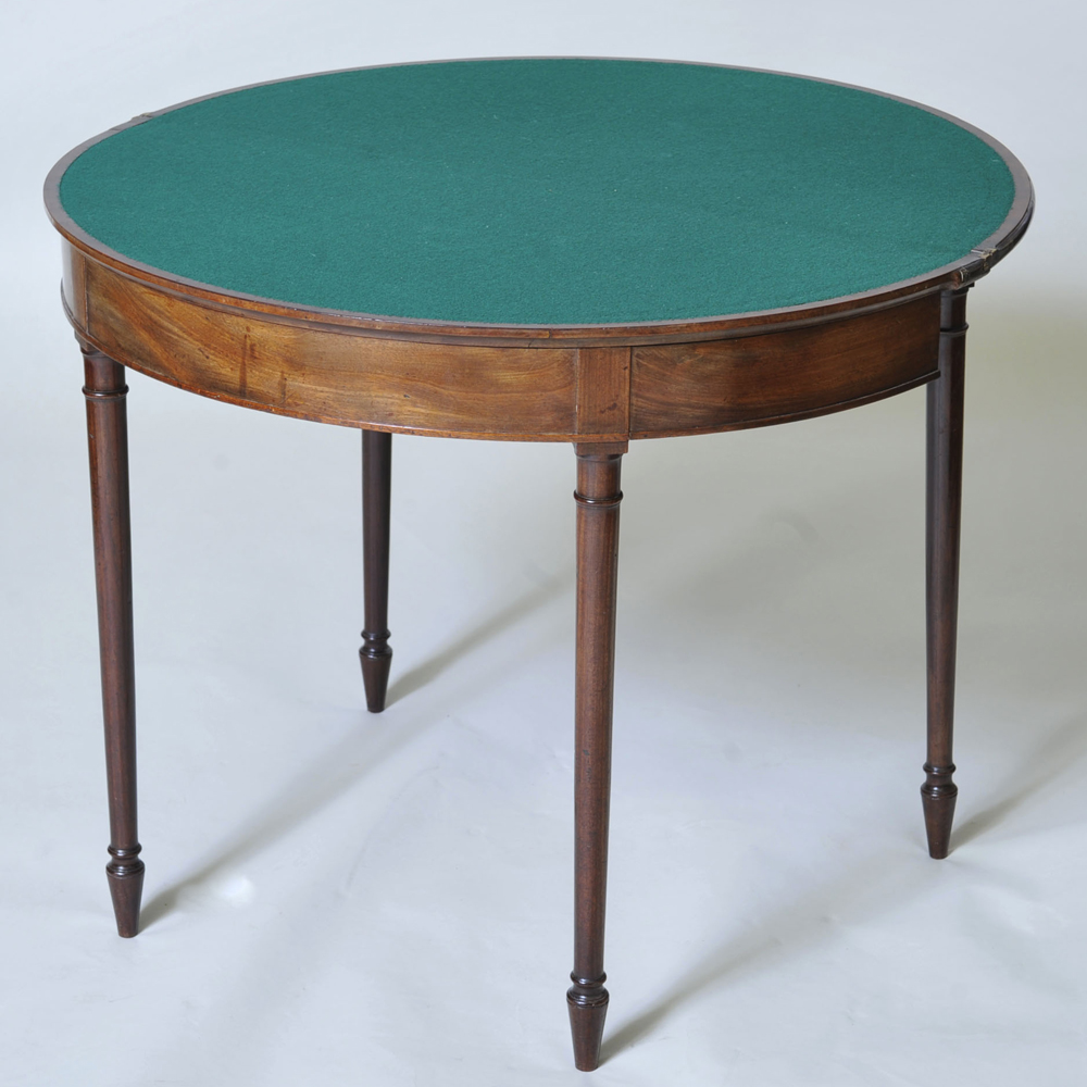 19th century mahogany demi lune table elaine phillips - Table cuisine demi lune ...