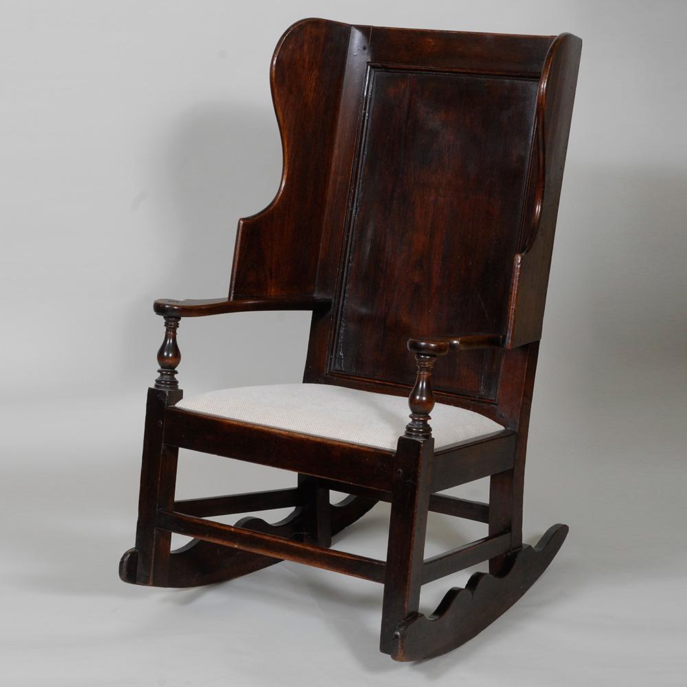 circa 1800 home archive fruitwood rocking lambing chair circa 1800