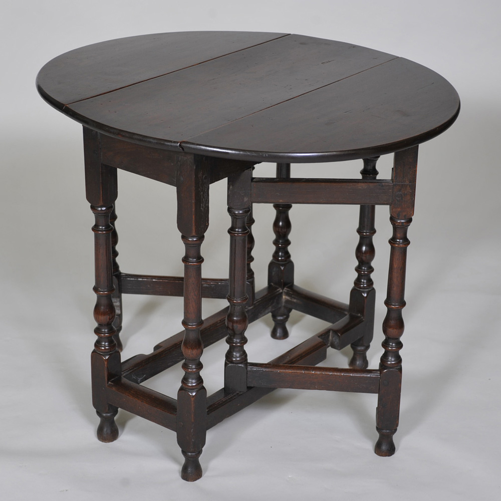Early Th Century Oak And Elm Gateleg Table Of Small Size - Antique gateleg tables