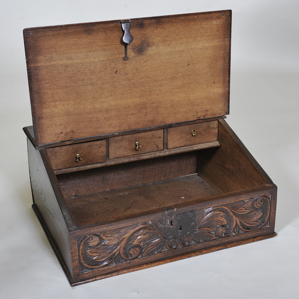 17th Century Oak Bible Box Elaine Phillips Antiques